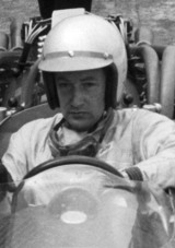 Chris Lawrence of Cooper at the 1966 British Grand Prix