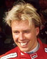 JJ Lehto of Onyx at the 1989 Formula One Spanish Grand Prix.