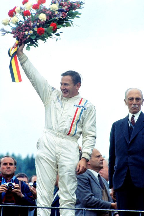 Bruce McLaren of McLaren at the 1968 Belgian Grand Prix