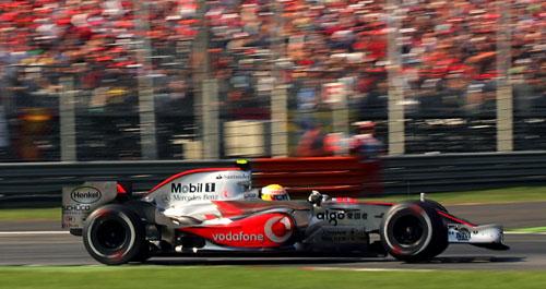 McLaren's Lewis Hamilton at the 2007 Italian Grand Prix