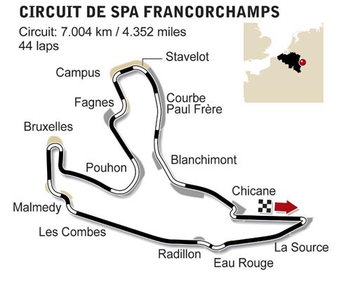 belgian grand prix spa francorchamps circuit espn f1. Black Bedroom Furniture Sets. Home Design Ideas