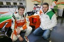 JR Hildebrand and Paul di Resta test for Force India