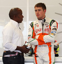 Paul di Resta with manager Anthony Hamilton