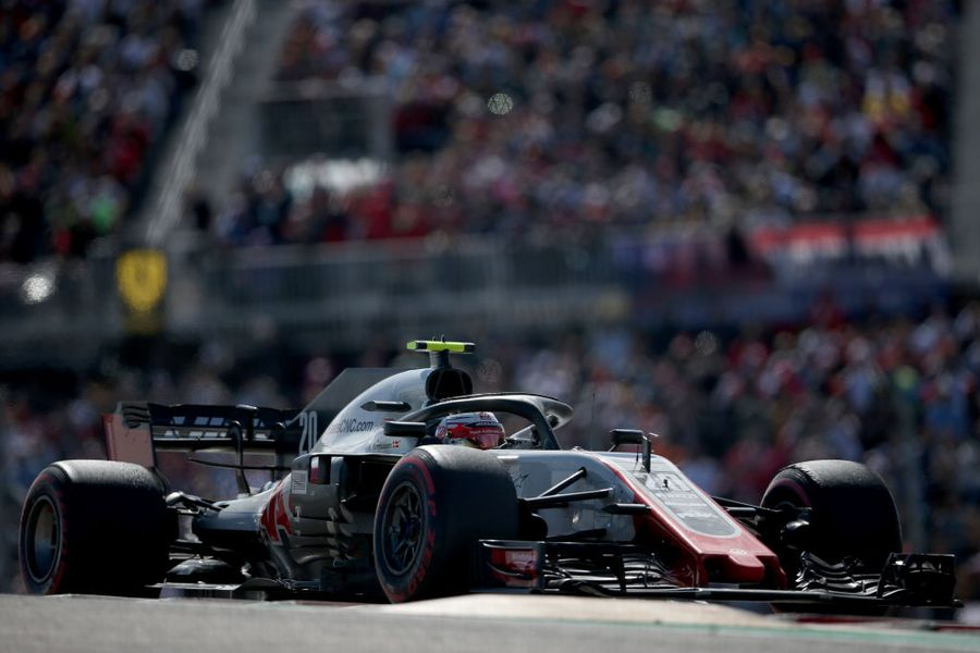 Kevin Magnussen on track in the Haas