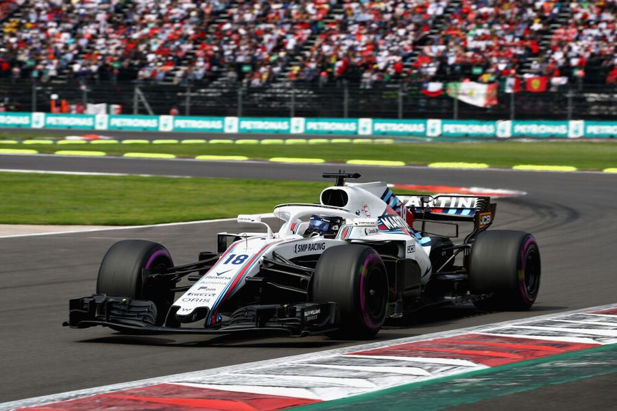 Lance Stroll on track in the Williams