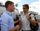 Jenson Button chats to David Coulthard