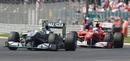 Nico Rosberg leads Fernando Alonso