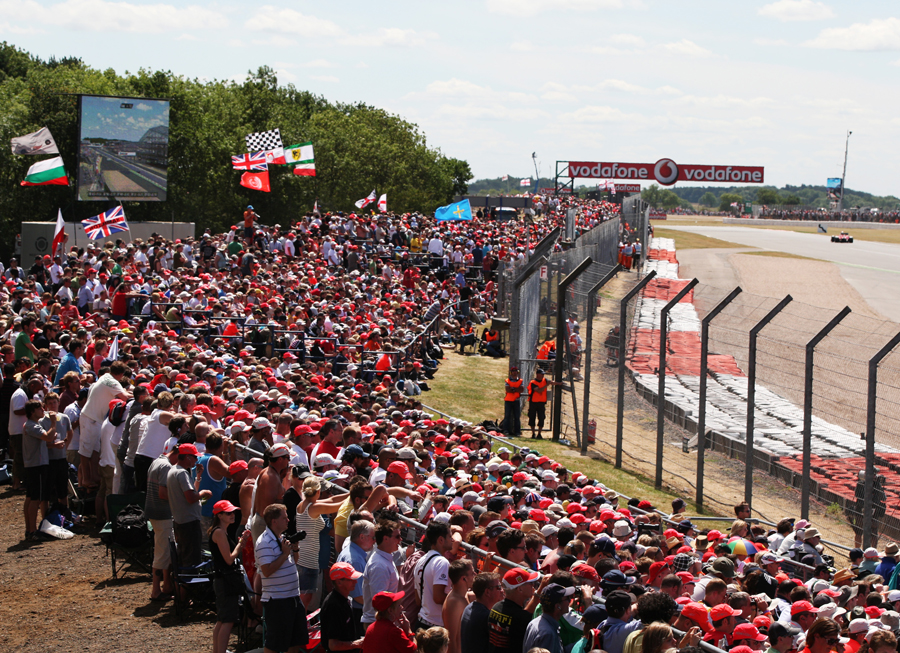 A section of the huge crowd at Silverstone