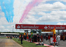 The Red Arrows perform ahead of the start of the race