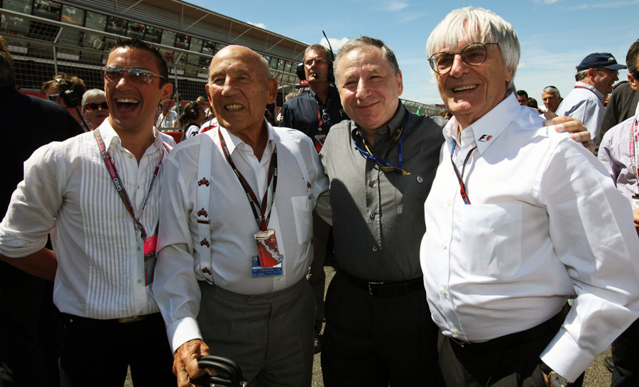 Frankie Dettori, Sir Stirling Moss, Jean Todt and Bernie Ecclestone