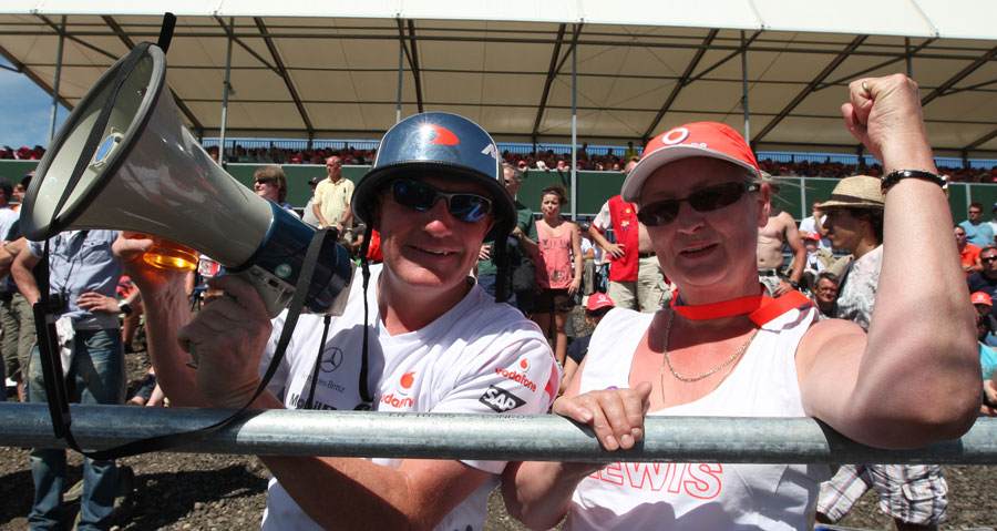 McLaren fans at Copse corner