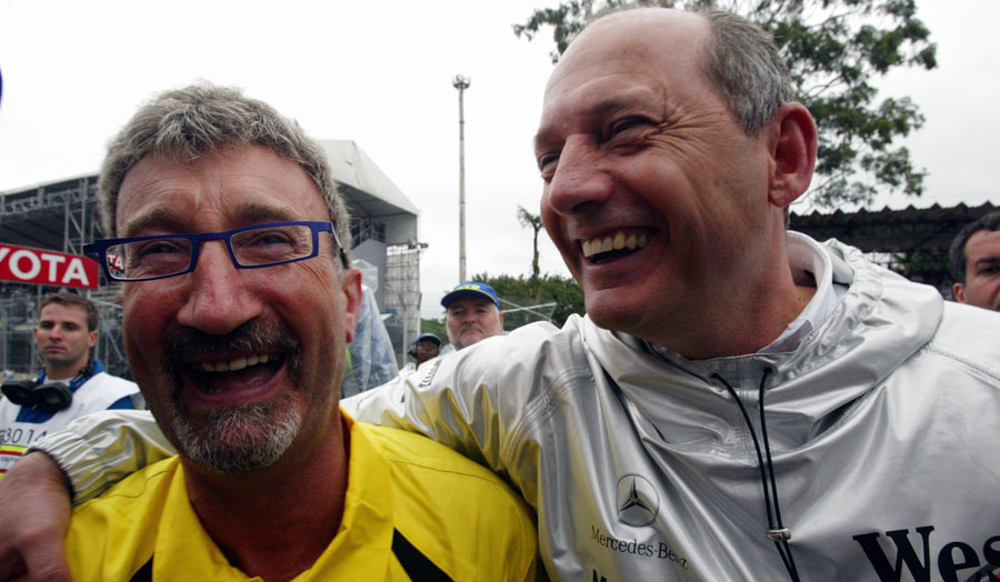 Eddie Jordan and Ron Dennis