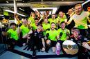 Max Verstappen celebrates with his team