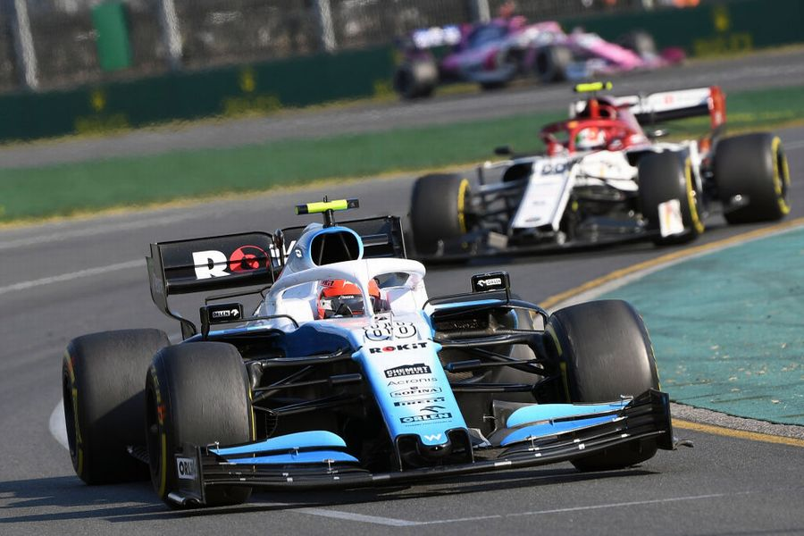 Robert Kubica on track in the Williams