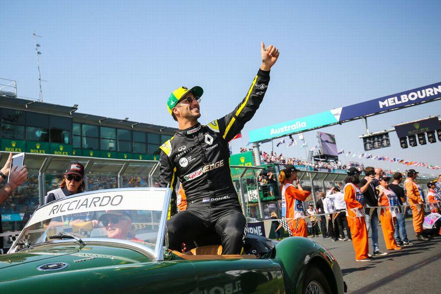 Daniel Ricciardo on the drivers parade