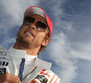 Jenson Button prepares on the grid