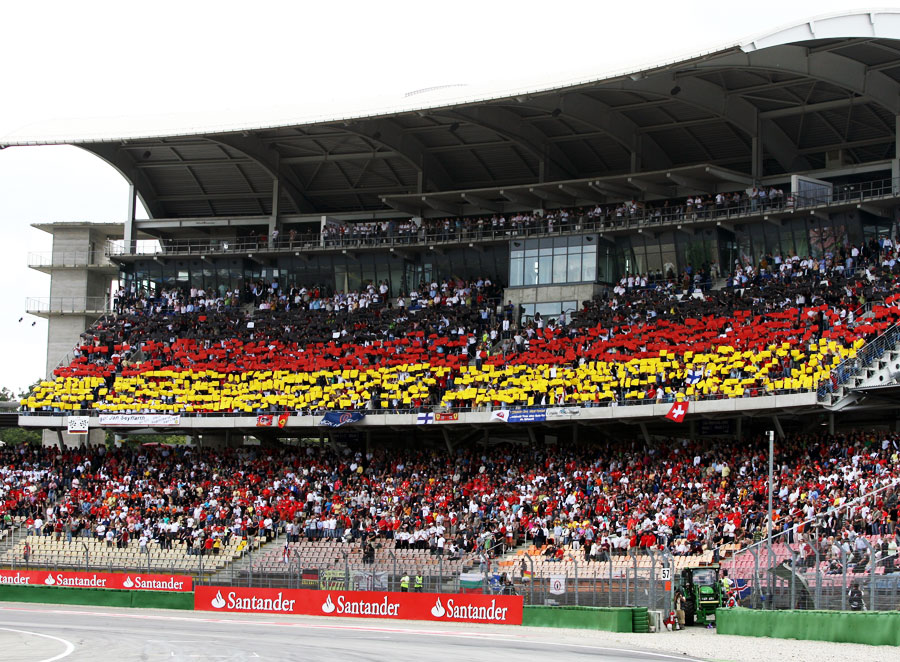 The main grandstand in the stadium section