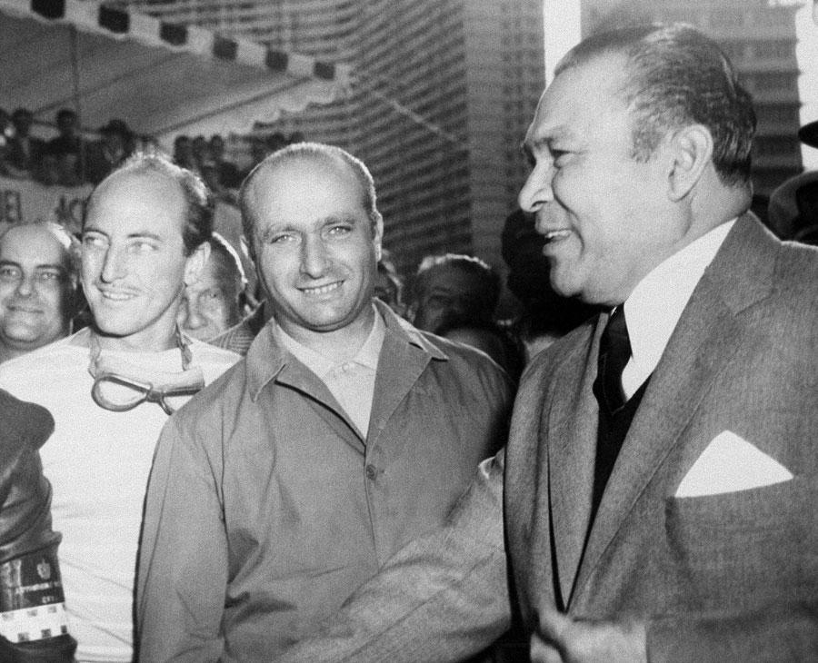 Juan Manuel Fangio with President Fulgencio Batista of Cuba
