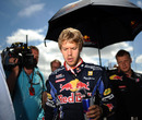 Sebastian Vettel stays focussed before the start of the race