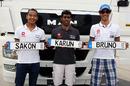 Sakon Yamamoto, Karun Chandhok and Bruno Senna with personalised number plates