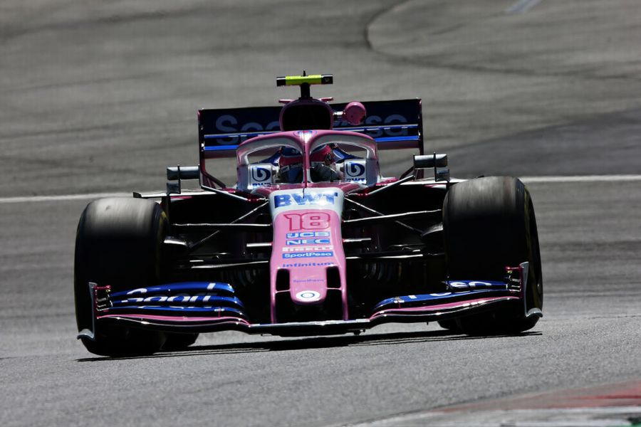 Lance Stroll on track in the Racing Point