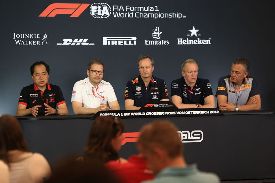 The Friday press conference in Spielberg
