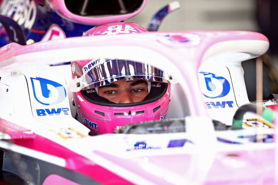 Lance Stroll in the cockpit