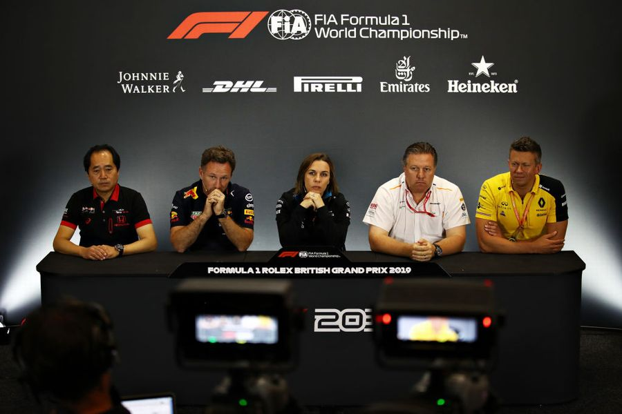 The Friday press conference in Silverstone