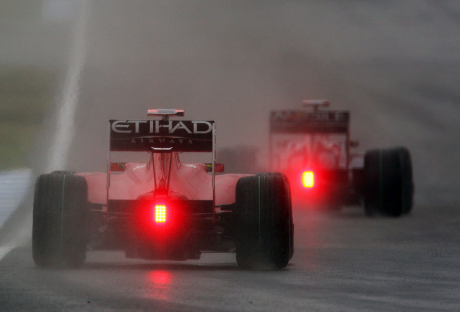 felipe massa with his rain light on formula 1 photos