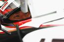 Sakon Yamamoto watches the lap times