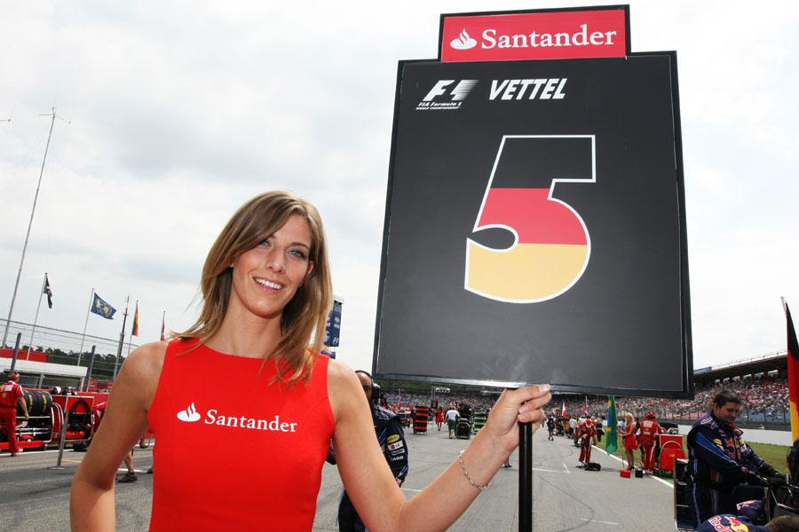 Sebastian Vettel's grid girl