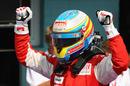 Fernando Alonso celebrates victory
