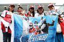 Kimi Raikkonen fans show their support