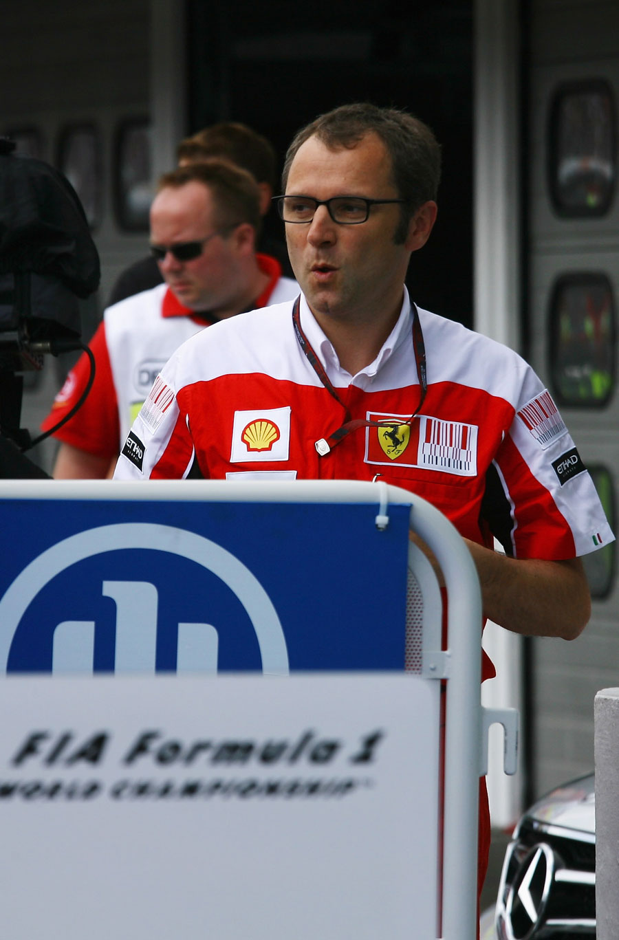 A sheepish Stefano Domenicali after the race