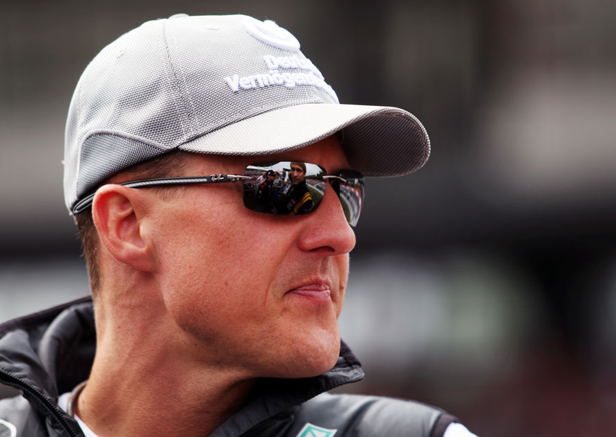 Michael Schumacher during the drivers' parade