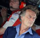 Luca di Montezemolo on the Ferrari pit wall