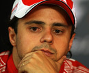 Felipe Massa during the post-race press conference
