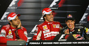 Sebastian Vettel asks if he can leave the post-race press conference