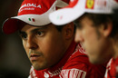 Felipe Massa and Fernando Alonso in the post-race press conference
