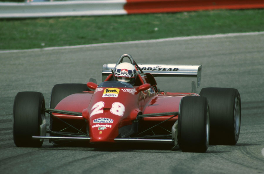 Didier Pironi on the way to winning the 1982 Dutch Grand Prix