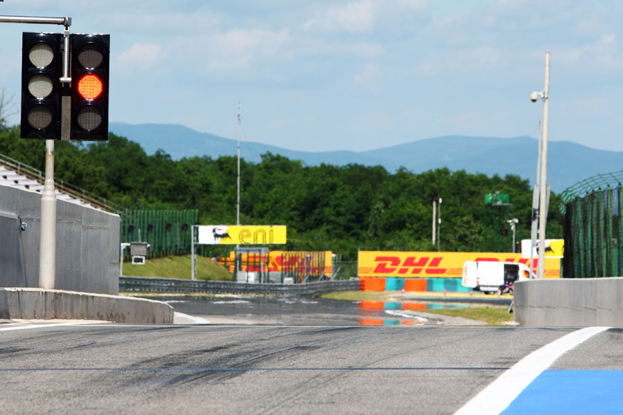The Hungaroring pit exit