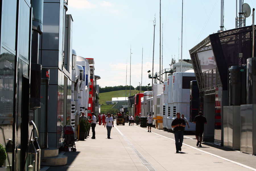 The Hungaroring paddock