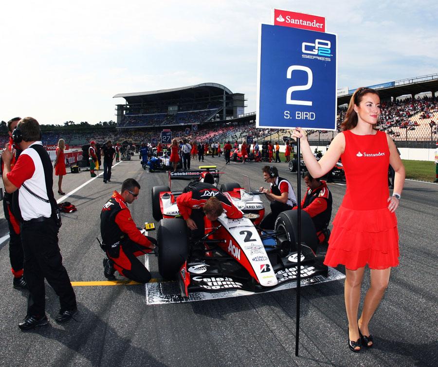 Sam Bird's car on the grid