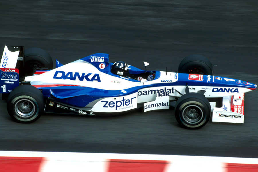 Damon Hill driving for Arrows in Belgium