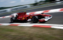 Fernando Alonso flashes past