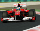 Fernando Alonso on track during free practice two