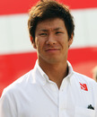 Sauber's Kamui Kobayashi in the paddock