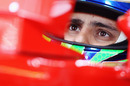 Felipe Massa studies the times