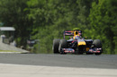 Mark Webber setting the pace in the Red Bull