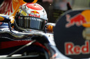 Sebastian Vettel in the pits